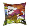 Watercolor Paint Splatter Artistic Throw Pillow V.2