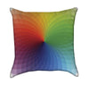 Rainbow Color Pallete Throw Pillow