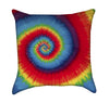 Rainbow Hippie Tie-Dye Swirl Throw Pillow