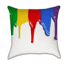 Artistic Rainbow Dripping Paint Throw Pillow