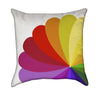 Abstract Red and Orange Colorful Rainbow Flower Throw Pillow