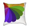 Abstract Green and Purple Colorful Rainbow Flower Throw Pillow