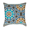 Bonab Arabic Blue Mosaic Throw Pillow