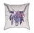 Watercolor Longhorn Dreamcatcher Blue and Purple Throw Pillow