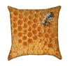Honey Comb Honey Bee Yellow Throw Pillow