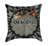 Beatles Imagine Mosaic Throw Pillow