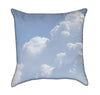 Cloudy Blue Sky Throw Pillow