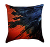 Abstract Red and Blue Painting Throw Pillow
