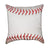Red Baseball Seams Throw Pillow