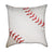 Red Baseball Corner Seams Throw Pillow