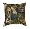 Abstract Blue and Green Graffiti Street Art Throw Pillow