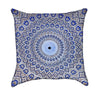 Blue Arabic Mosaic Mandalla Throw Pillow
