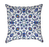 Blue Turkish Floral Flourish Throw Pillow