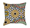 Colorful Yellow Moccan Mosaic Throw Pillow
