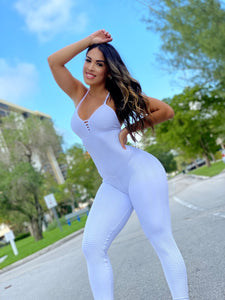 White Babe Wallpaper Jumpsuit