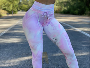 Lilac Marble Leggings