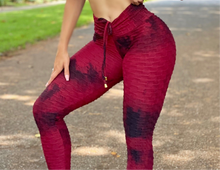 Wine Bubble Tye Leggings