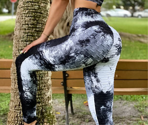 Black Bubble Tye Leggings