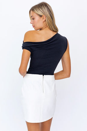Asymmetrical Cold Shoulder Bodysuit