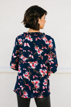 Midnight Blossoms Blouse