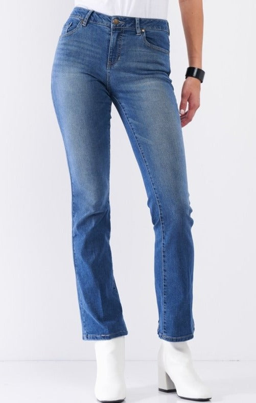 Skinny Boot Leg Jeans in Medium Wash