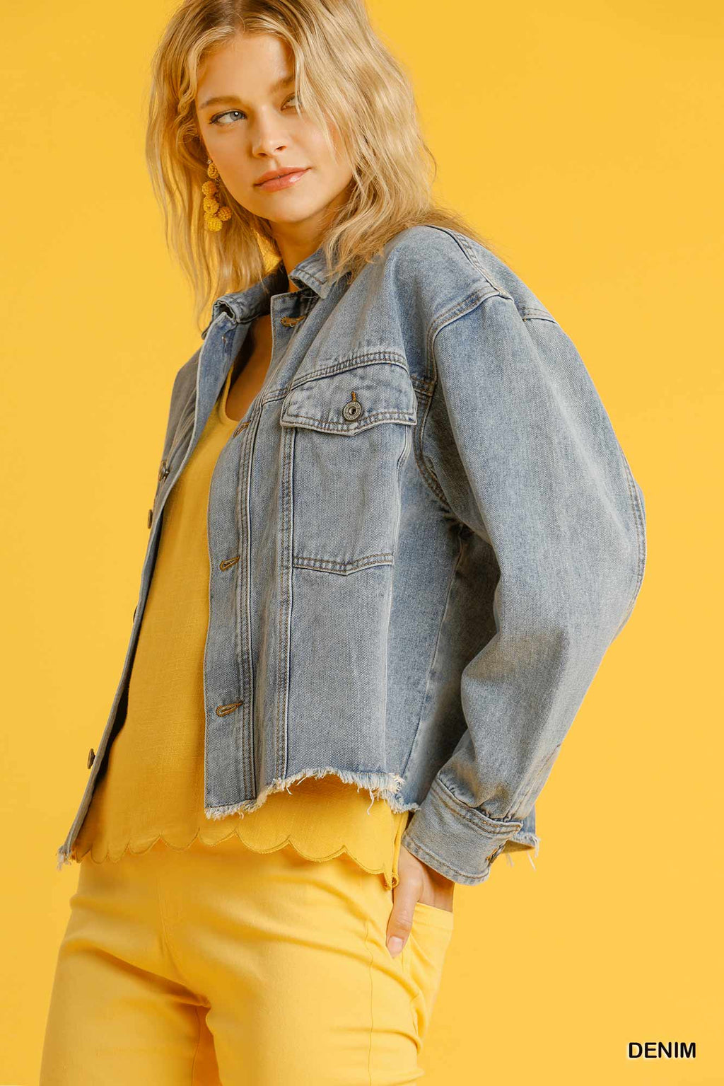 Frayed Edges Denim Jacket