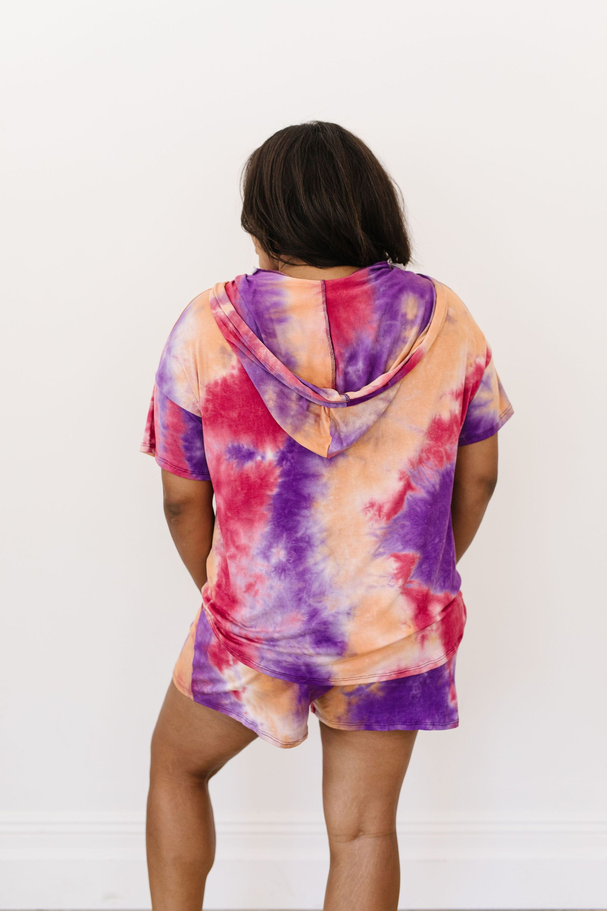 Cheer Me Up Tie Dye Hoodie In Orange