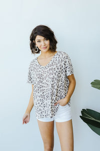 Leap Of Faith V-Neck In Natural