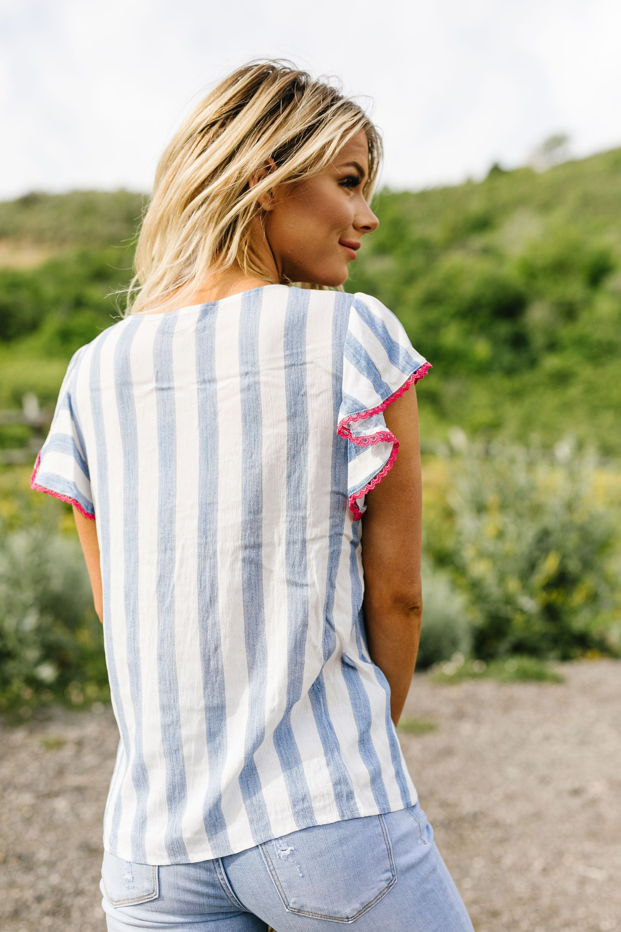 Petunias & Stripes Blouse