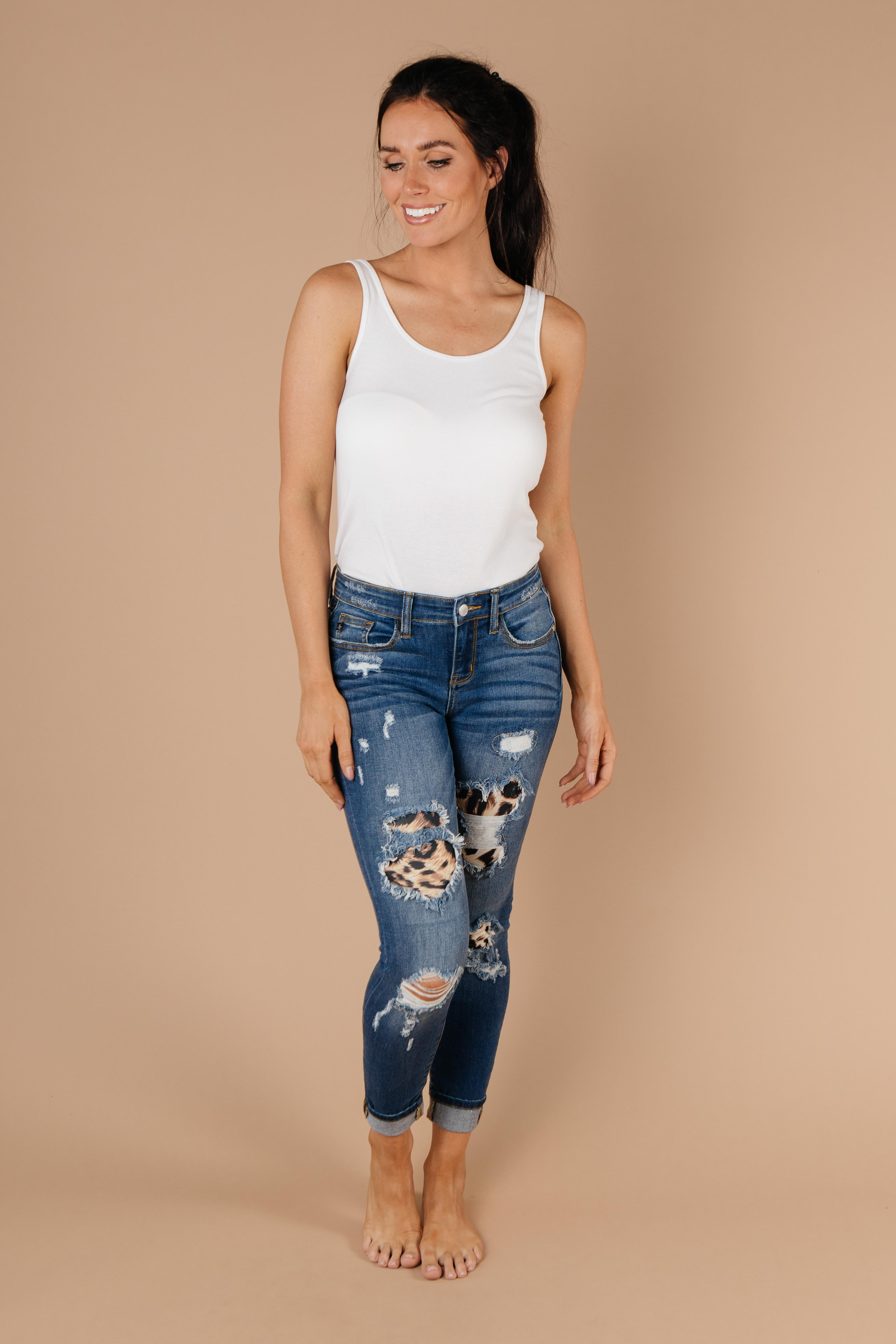 Wild Thing Leopard Patch Jeans