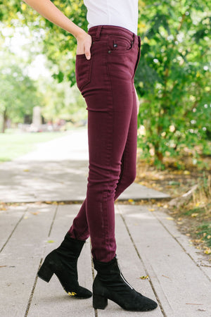 Wine And Dine Colored Jeans