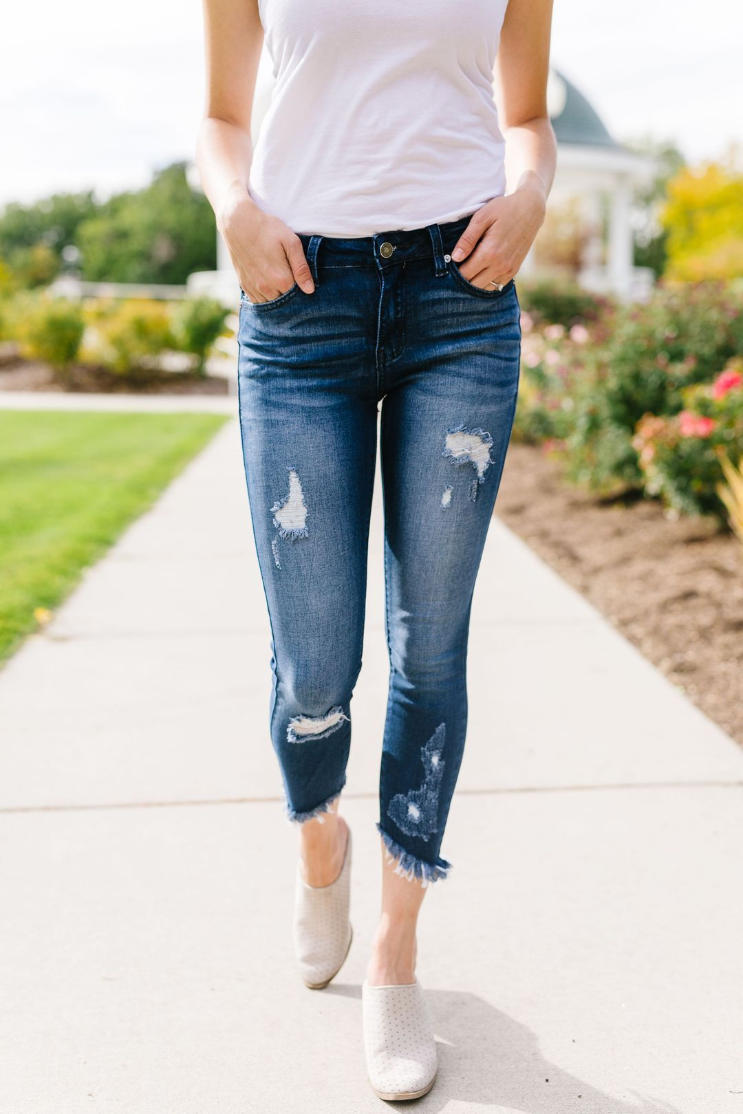 Angle of Destruction Skinny Jeans