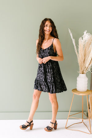 Black Jaguar Tank Dress