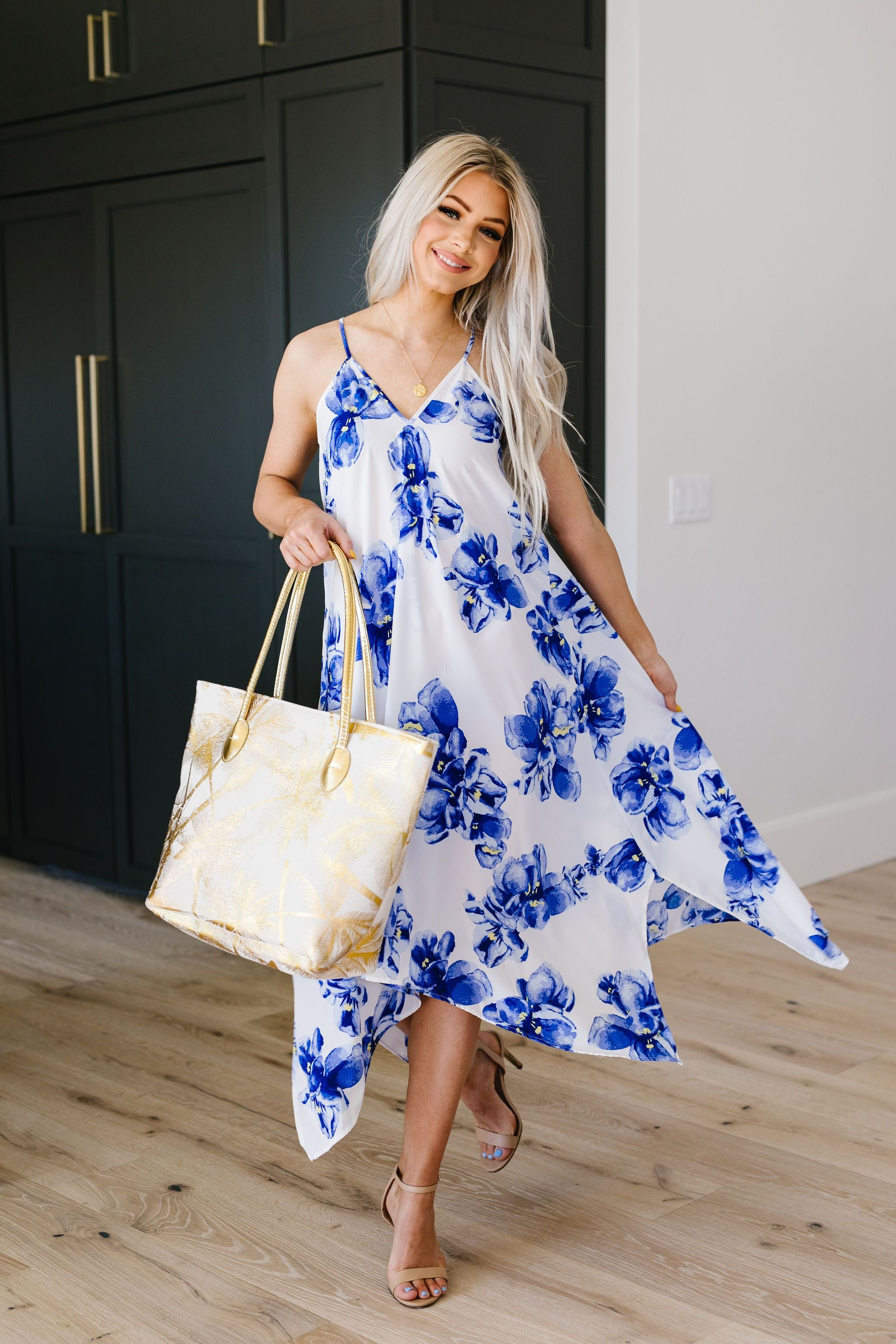 Blue Hibiscus Sun Dress