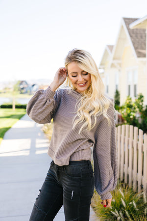 Bubble Sleeve Off The Shoulder Top
