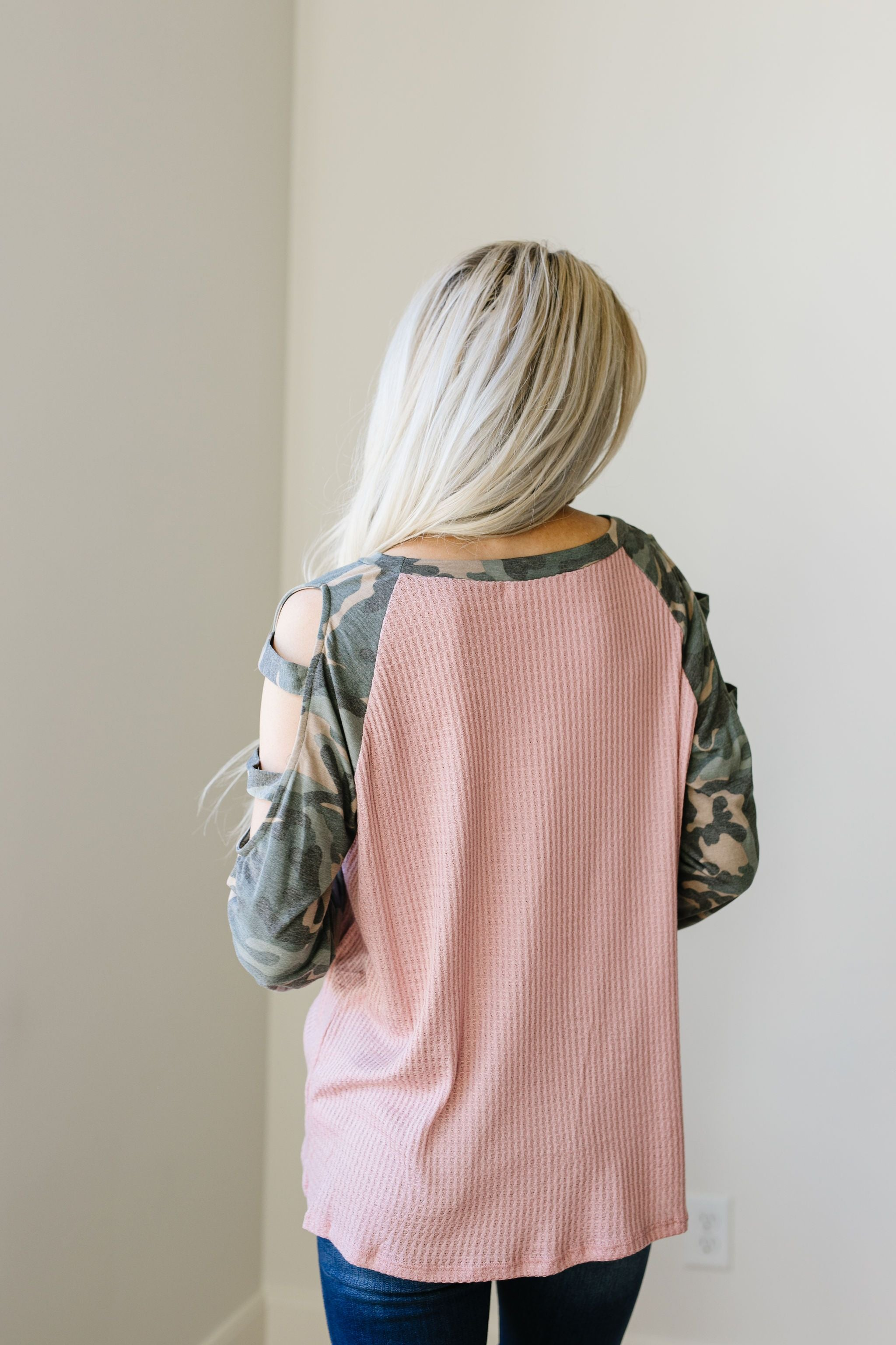 Climb The Ranks Ladder Sleeve Top