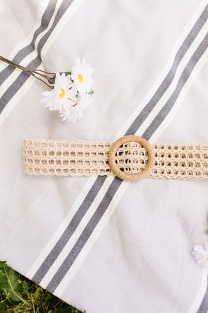 It's A Cinch Woven Belt In Ivory