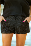 Glam Up Sequin Shorts in Black