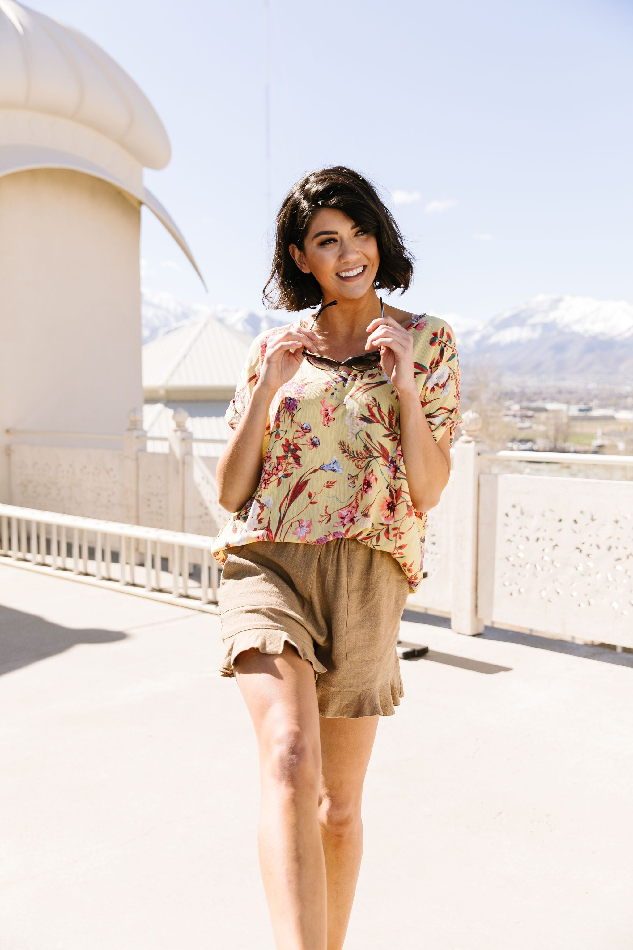 Mellow Yellow Floral Fantasy Blouse