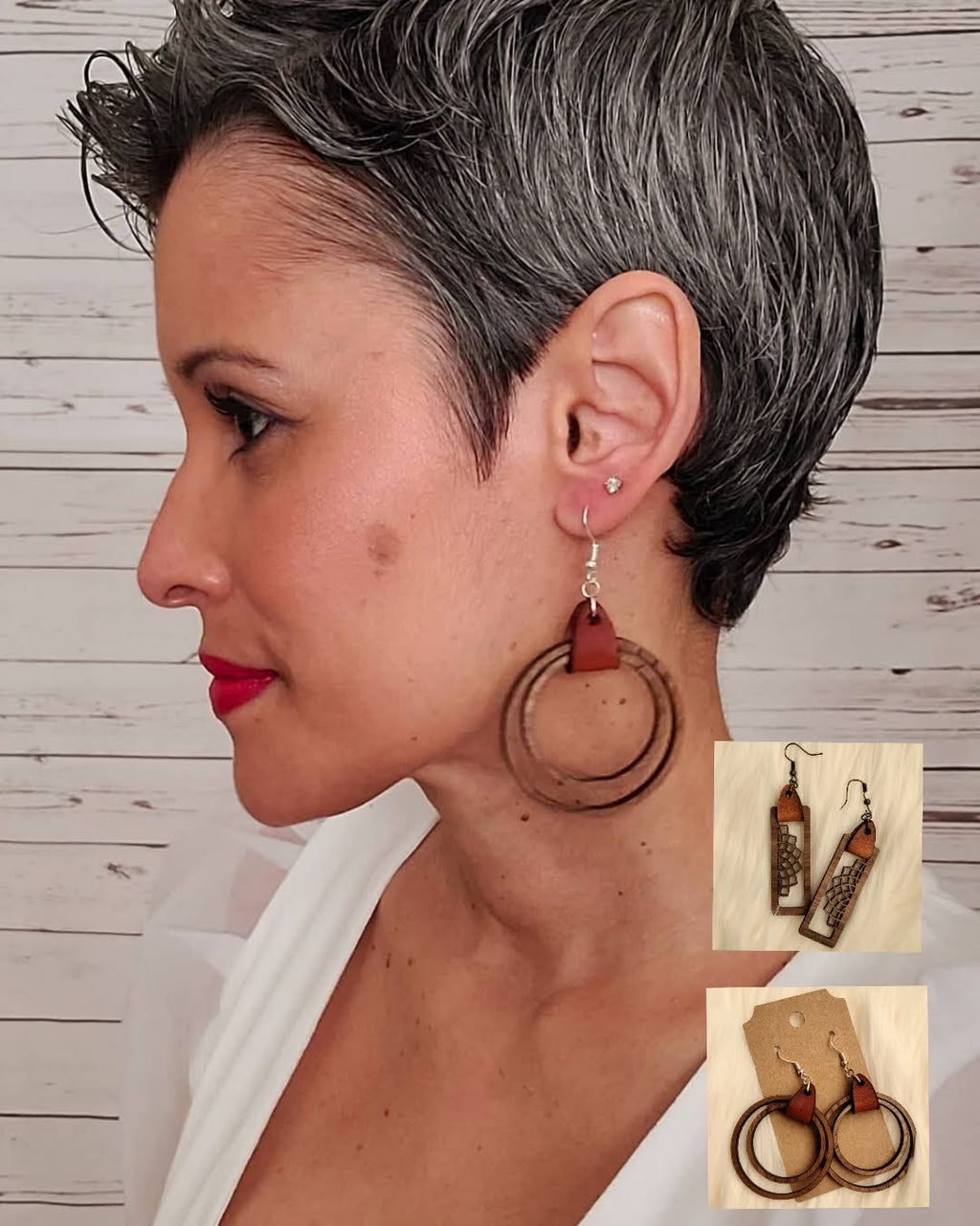 Wood You Love Me Earrings Hoops & Rectangles