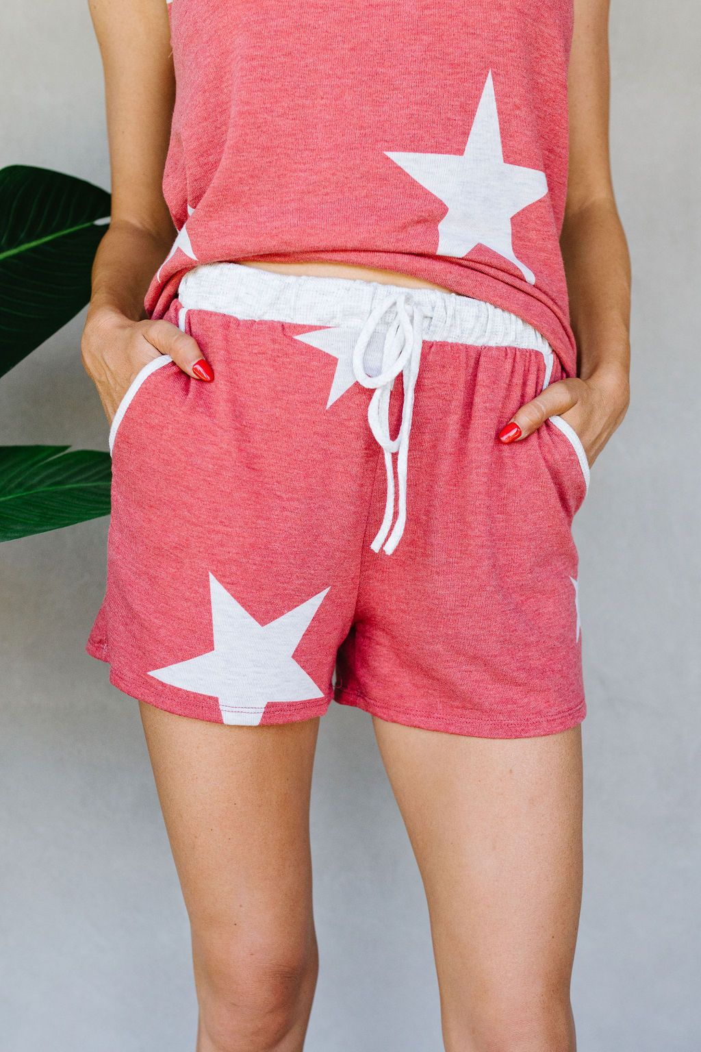 Star Player Shorts In Red
