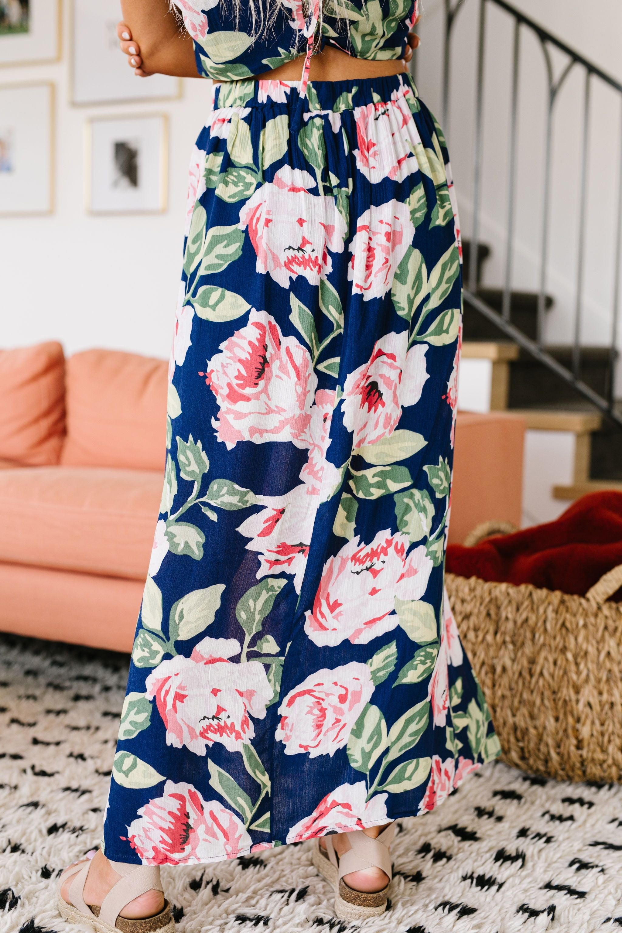 Tropical Fever Skirt In Navy