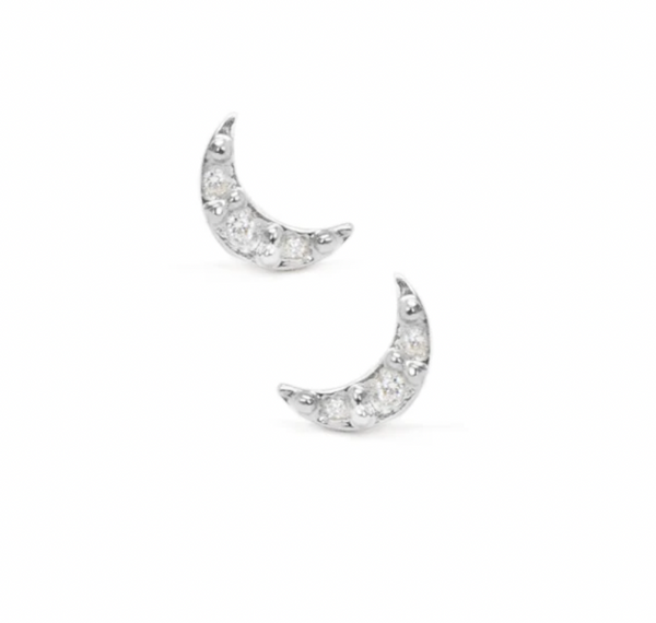 Sparkly Crecsent Moon Earrings