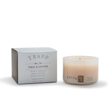 Ambiance Collection - No. 74 Tabac & Leather - 3.75 oz. Poured Candle