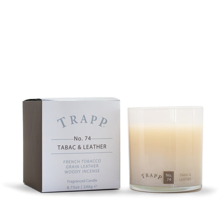 Ambiance Collection - No. 74 Tabac & Leather - 8.75oz. Poured Candle