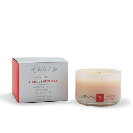 Ambiance Collection - No. 75 Hibiscus Prosecco - 3.75 oz. Poured Candle