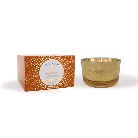 Orange Clove – 16oz 3-Wick Gold Glass Candle