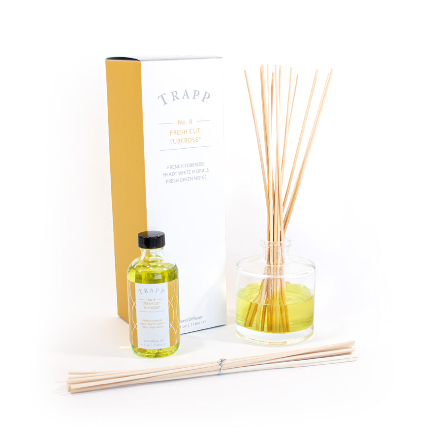 No. 8 Fresh Cut Tuberose - 4 oz Diffuser Kit