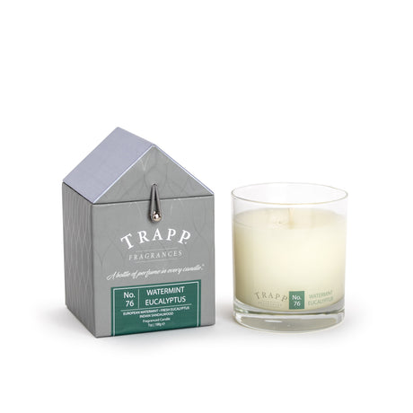 Trapp 7oz. Large Poured Candle -<br> No. 76 Watermint Eucalyptus