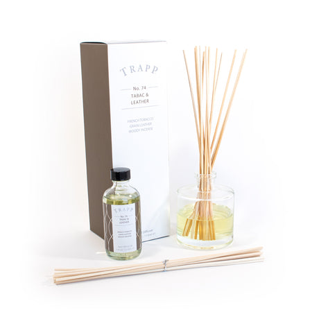 No. 74 Tabac & Leather - 4 oz Diffuser Kit